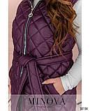 Стьобана жилетка жіноча Плащівка на синтепоні Розмір 54 56 58 60 62 64 В наявності 4 кольори, фото 5
