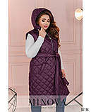 Стьобана жилетка жіноча Плащівка на синтепоні Розмір 54 56 58 60 62 64 В наявності 4 кольори, фото 8