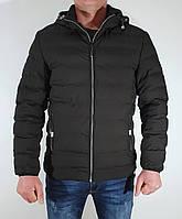 """Мужская стильная демисезонная куртка черная на манжете """"Beaz"""" 19322"""