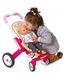 Лялькова коляска Smoby Baby Nurse з поворотними колесами, фото 2