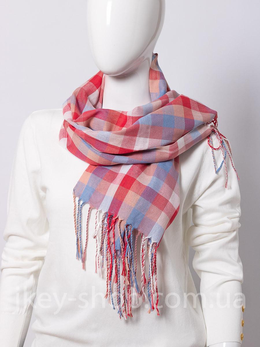 Шарф - платок женский SHARF MODA S205109 PINK CHECK