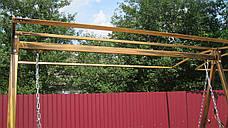 Кованая качель садовая большая разборная, фото 3