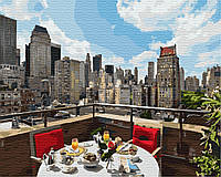Картина по номерам 40*50см. Завтрак в большом городе GX8390 Brushme
