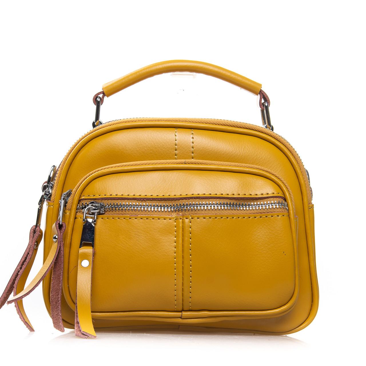 Сумка Женская Клатч кожа ALEX RAI 2-01 8802 yellow
