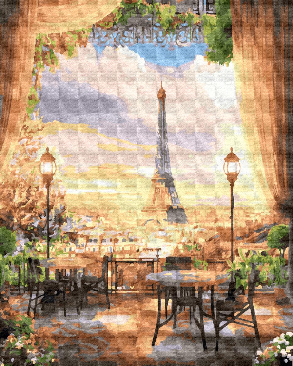 Картина по номерам 40*50см. Парижское кафе GX22529 Brushme
