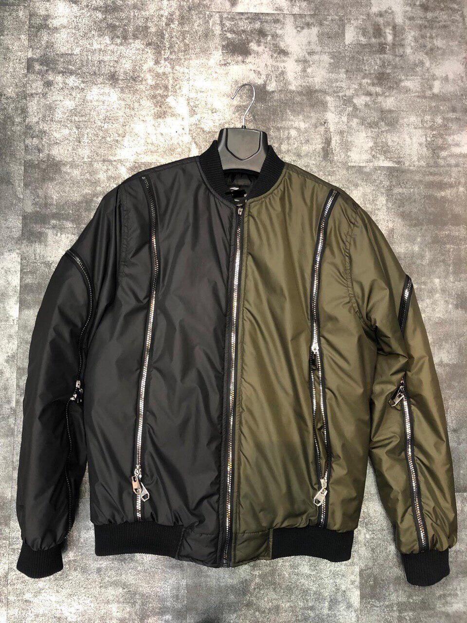 Бомбер - дизайнерская мужская куртка-бомбер