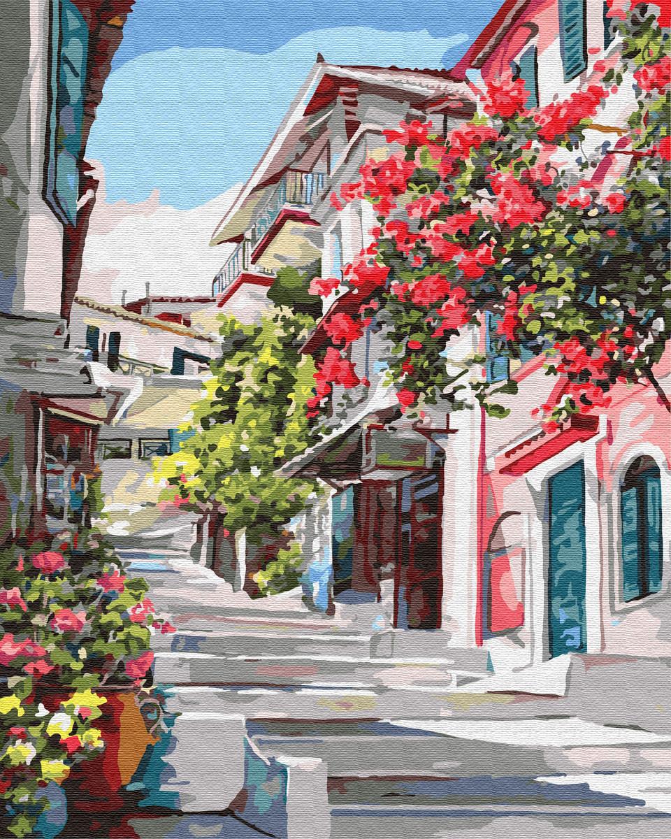 Картина по номерам 40*50см. Греция GX7519 Brushme