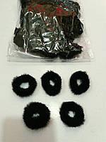 Меховая мини резинка чёрная