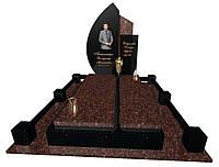 Пам'ятник надгробний гранітний одинарний Ексклюзивний S37