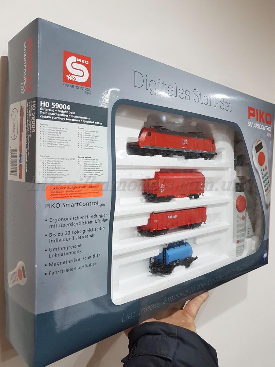 PIKO 59004 Детская Железная дорога Стартовый набор грузовой поезд, масштаба 1/87, H0