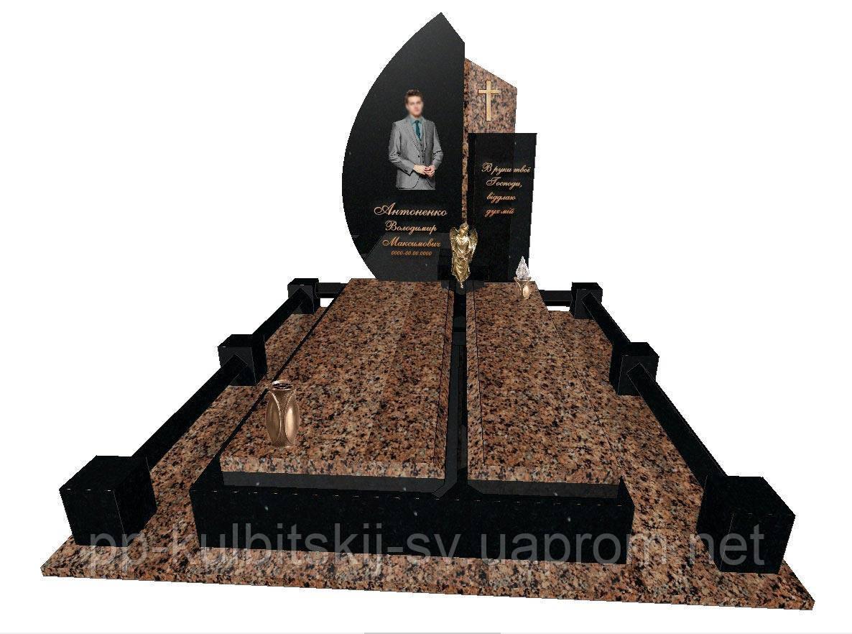 Пам'ятник надгробний гранітний одинарний Ексклюзивний S39/E