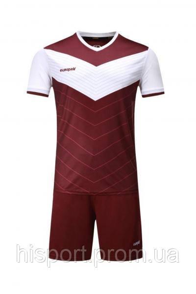 Игровая футбольная форма для команд бордово-белая 019 Europaw