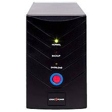 ИБП LogicPower U650VA, Lin.int., AVR, 2 x евро, USB, металл