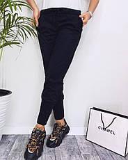 Женские замшевые штаны с карманами, фото 2