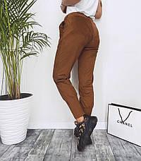Женские замшевые штаны с карманами, фото 3
