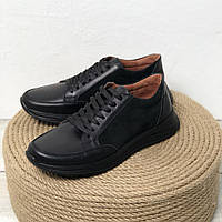 Женские кожаные кроссовки Возможен отшив в других цветах кожи и замши, фото 1