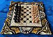 Шахматы-нарды-шашки 3 в 1, резьба по дереву, фото 2