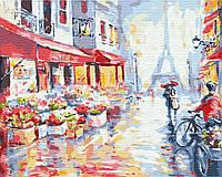 Картина по номерам 40*50см. Цветочная улица в Париже GX7959 Brushme