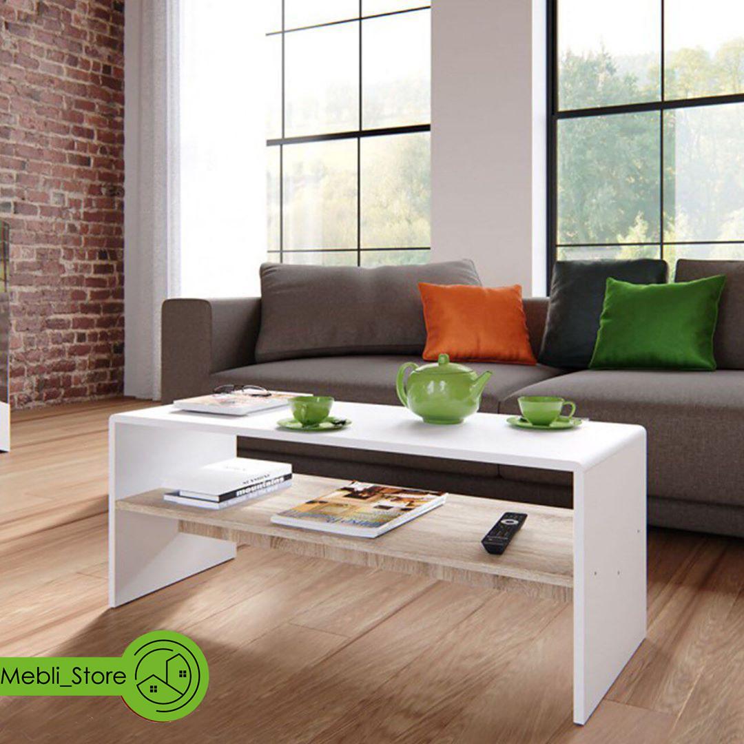 Офисный журнальный столик с полкой, кофейный столик из ДСП (7 ЦВЕТОВ) 996х400х398 мм Гарантия 1 ГОД!
