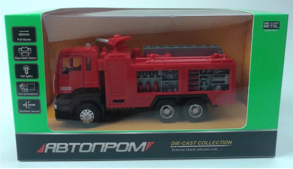 Машина металлическая Пожарная АВТОПРОМ, 5001