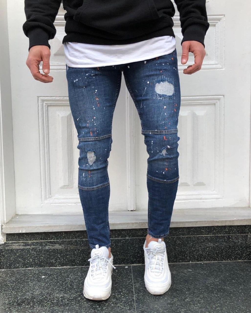 😝 Джинсы - голубые джинсы люкс качества