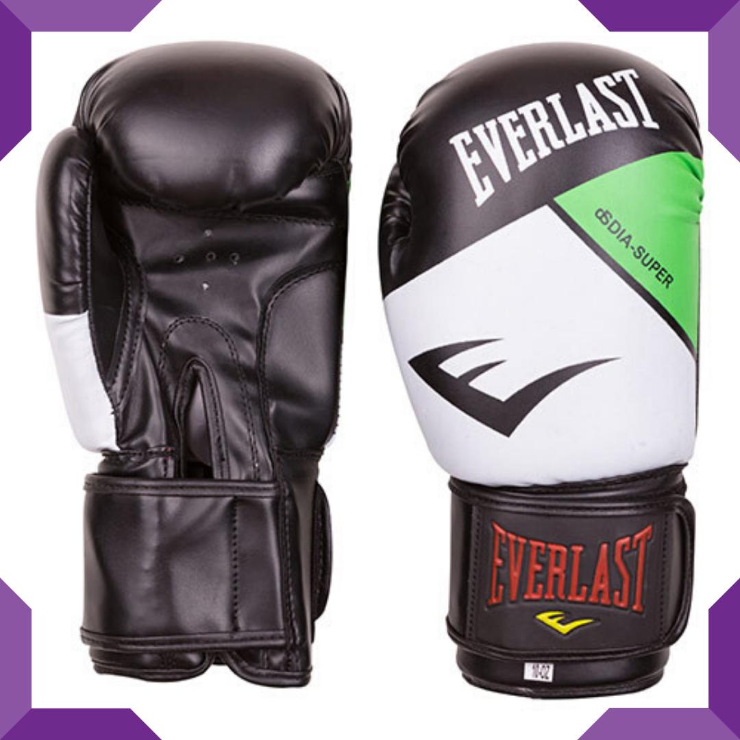 Боксерские перчатки Ever DX 12 oz,Бело-зелёный