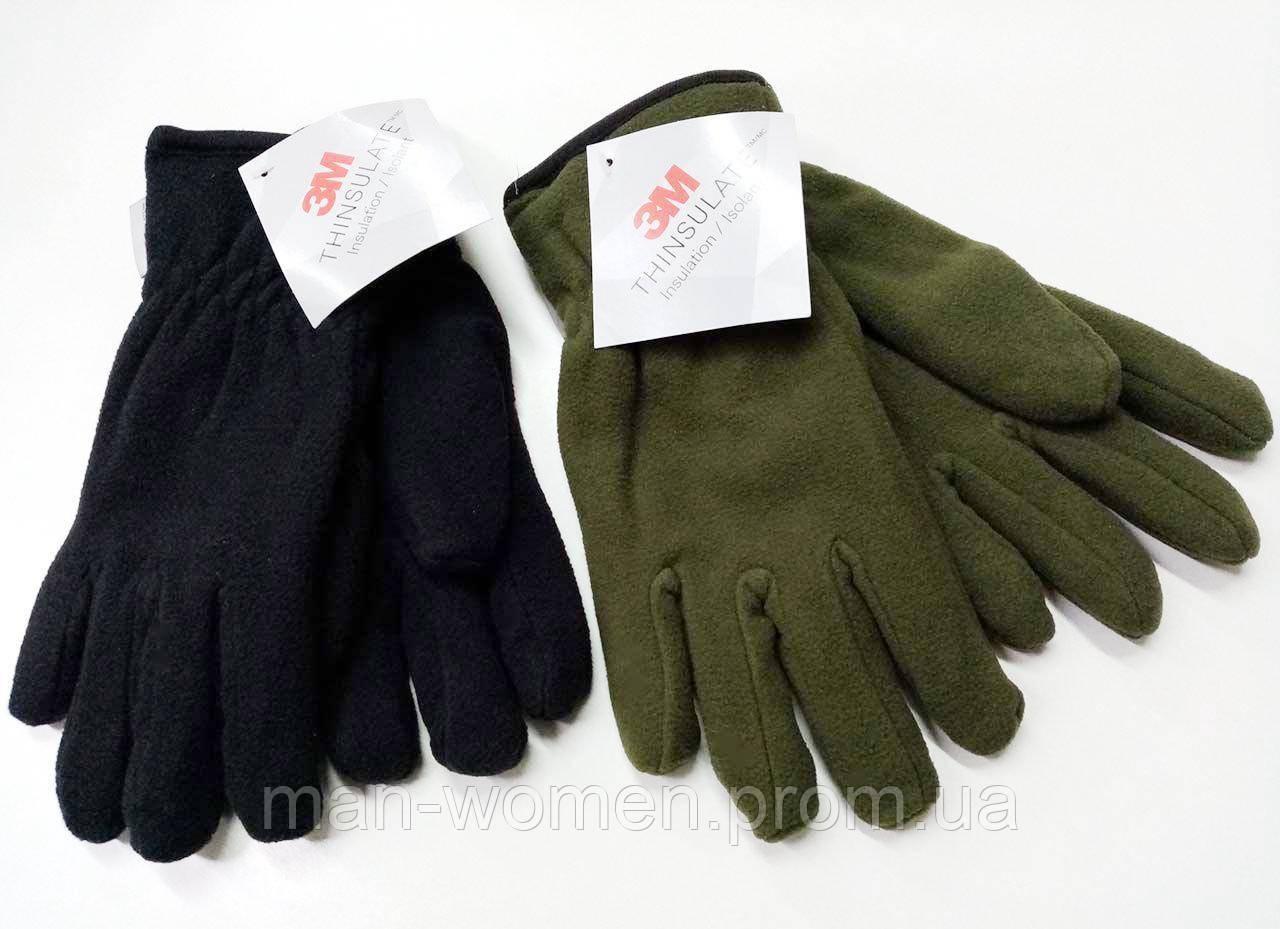 Перчатки плотный флис Тинсулейт Польша - олива, черные.