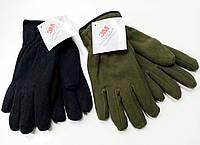Перчатки плотный флис Тинсулейт Польша - олива, черные., фото 1