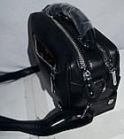 Женские клатчи-саквояжи из искусственной кожи на 2 отделения 20*14 см (черный), фото 2