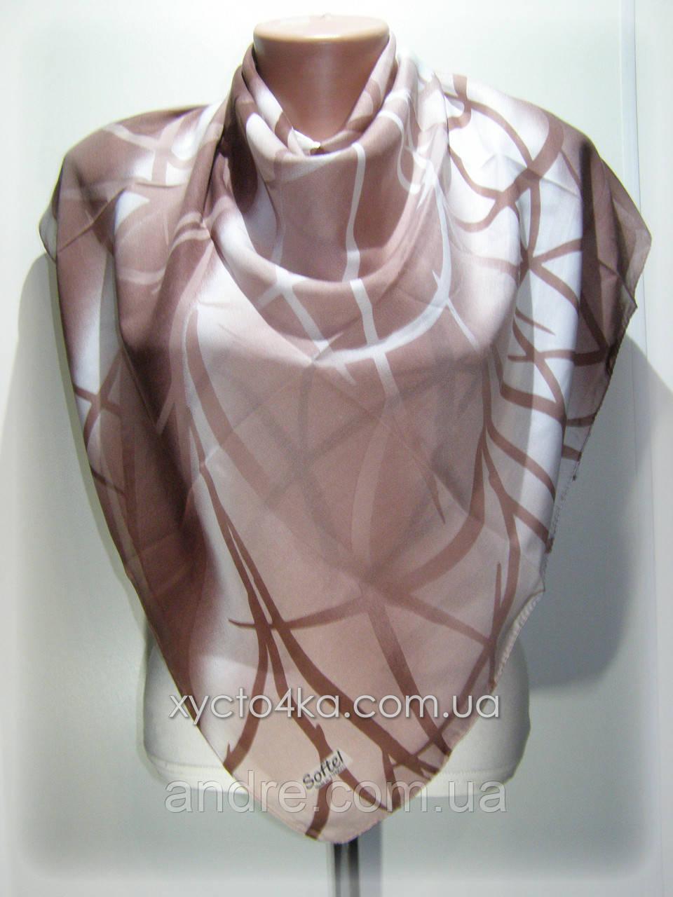 Лёгкий платок на натуральной основе, капучино