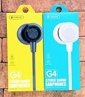 Наушники вакуумные CELEBRAT G4, проводные, прямой штекер, с микрофоном, разные цвета, наушники вкладыши, прово