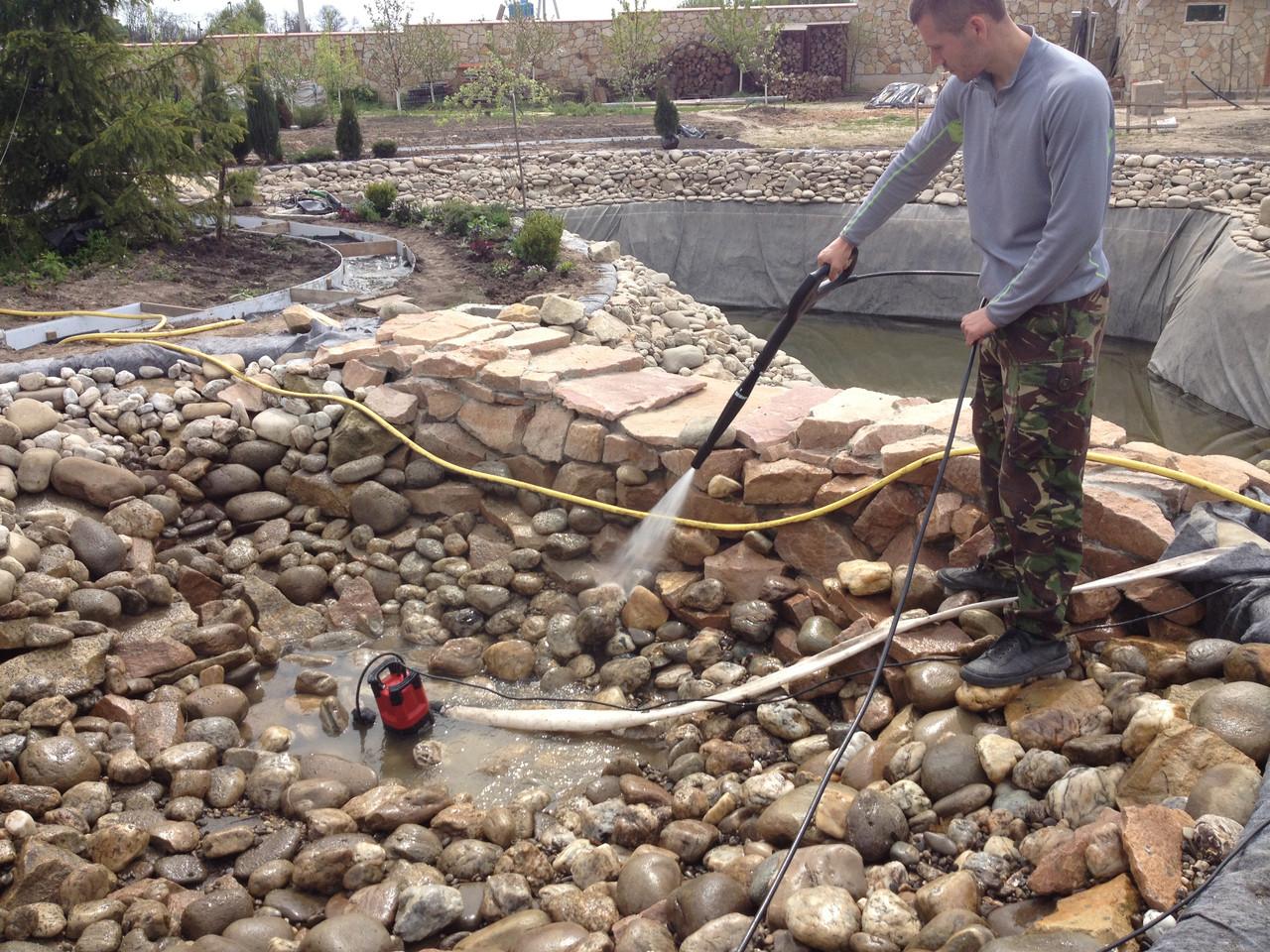 Чищення ставків, очищення водойм, сезонний догляд за ставком