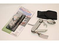 ST3-64 Походный набор (Большой): ложка + вилка + открывашка + нож + штопор + шило.