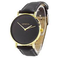 Часы Geneva кожзам золото черный золото черный