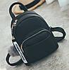 Женский маленький рюкзак эко кожа Черный - Фото