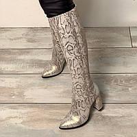 Женские сапоги с острым носком из натуральной кожи нубук Возможен отшив в других цветах кожи