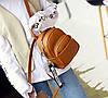 Женский мини рюкзачок Коричневый - Фото
