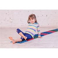 Детский массажный коврик пазл для стоп (ортопедический, резиновый) Onhillsport 10 шт (MS-1209-4)
