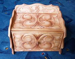 Хлебница из дерева резная, фото 3