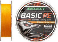 Шнур Select Basic PE 100m (оранж.) 0.18 mm 22LB/9.9 kg
