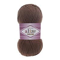 Пряжа Alize Cotton Gold 493 коричневый