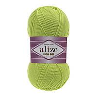 Пряжа Alize Cotton Gold 612 салатовый