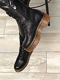 Женские кожаные ботинки на шнурках Возможен отшив в других цветах кожи и замши, фото 3