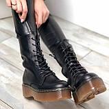 Женские кожаные ботинки на шнурках Возможен отшив в других цветах кожи и замши, фото 4