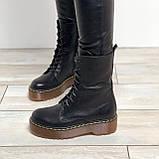 Женские кожаные ботинки на шнурках Возможен отшив в других цветах кожи и замши, фото 2