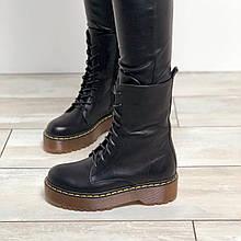 Женские кожаные ботинки на шнурках Возможен отшив в других цветах кожи и замши