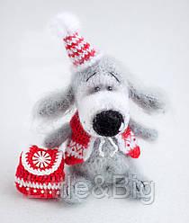 Мягкая игрушка собачка (цвет кофе с молоком)