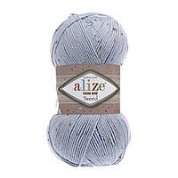 Пряжа Alize Cotton Gold Tweed 40 голубой
