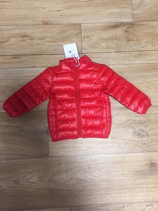 Куртка детская демисезонная на мальчика  весна-осень  красная 3-5 лет, фото 2