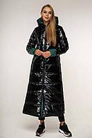 Пуховик женский зимний - теплый модный длинный женский пуховик 50размер